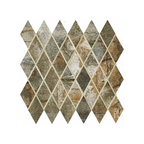 "Marazzi Vesale Stone 3-1/2"" x 2"" Decorative Diamond Mosaic in Moss"