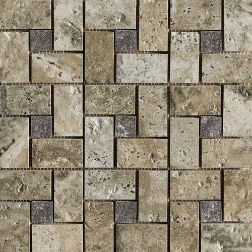 Marazzi Archaeology Random Sized ColorBody Porcelain Glass Pinwheel Mosaic in Crystal River