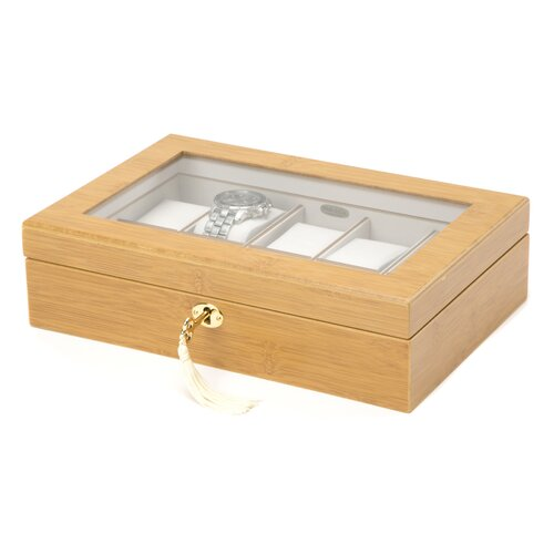 Logan Glass Top Watch Box