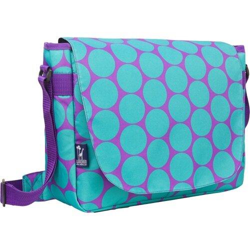 Big Dots Aqua Laptop Messenger Bag