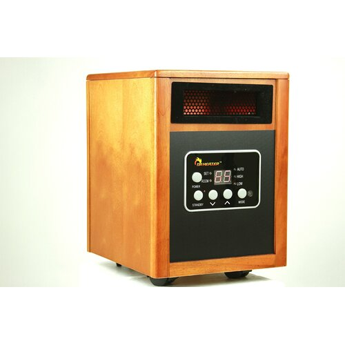 Dr. Infrared Heater 1,500 Watt Infrared Cabinet Space Heater with Remote Control