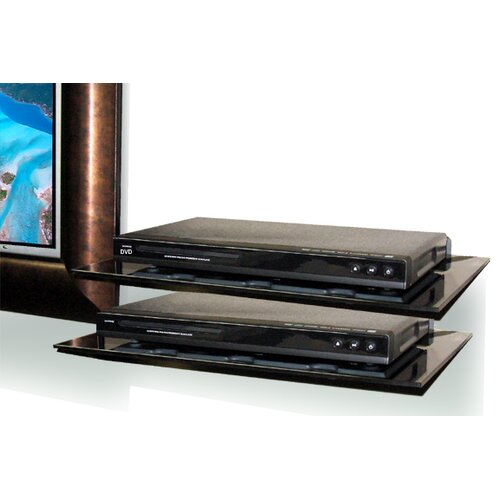 McNaughton 2-Piece Glass Entertainment Wall Shelves