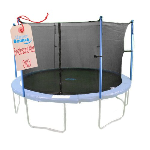 Upper Bounce 10'  Round Trampoline Net Using 6 Poles or 3 Arches