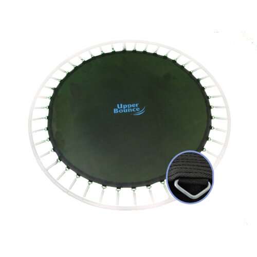 "Upper Bounce Round Jumping Surface for 14' Trampoline with 72 V-Rings for 7"" Springs"