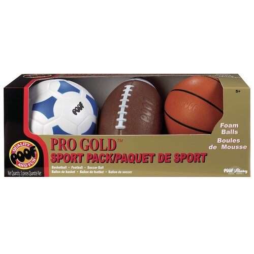 POOF-Slinky, Inc Pro Gold Ball Sport 3 Piece Set