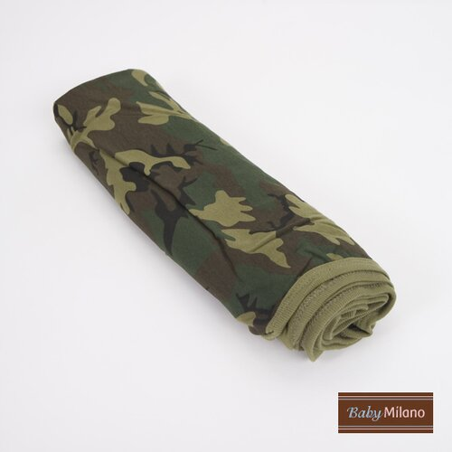 Baby Milano Baby Receiving Blanket in Green Camouflage