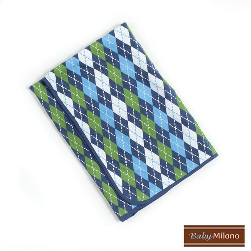 Baby Milano Baby Blanket in Blue Argyle