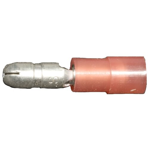 "Morris Products Nylon Insulated Double Crimp Bullet Disconnects in Red with 22""-16"" Wire and 0.16"" Bullet"