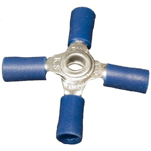 "Morris Products Vinyl Insulated 4""-Way Connectors in Blue with 16""-14""Wire"