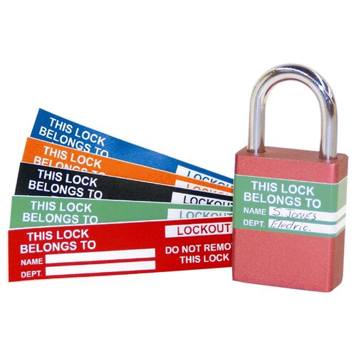 Morris Products Lock Labels (Pack of 10)