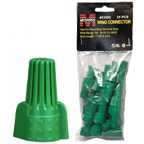 Morris Products Grounding Connectors Bagged in Green
