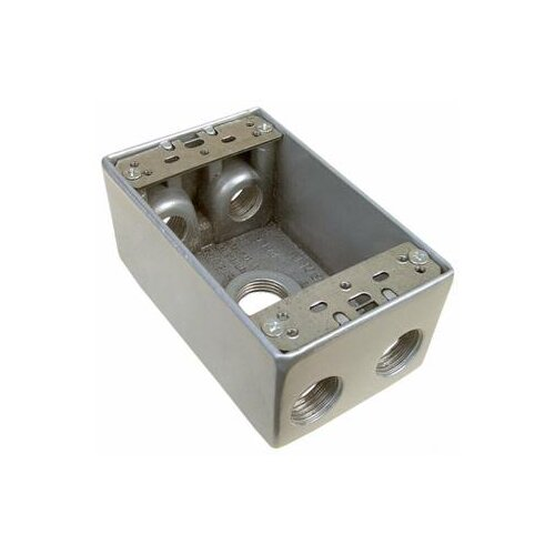 "Morris Products 2"" Weatherproof Boxes in Gray with 0.5"" Outlet Holes"