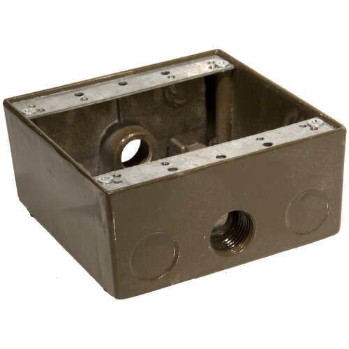 "Morris Products Weatherproof Boxes in Bronze with Outlet Holes 0.5"" in Bronze"