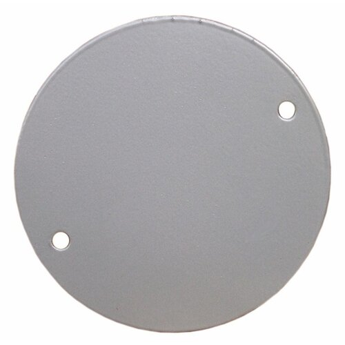 "Morris Products 4"" Round Weatherproof Covers with Blank Gray"