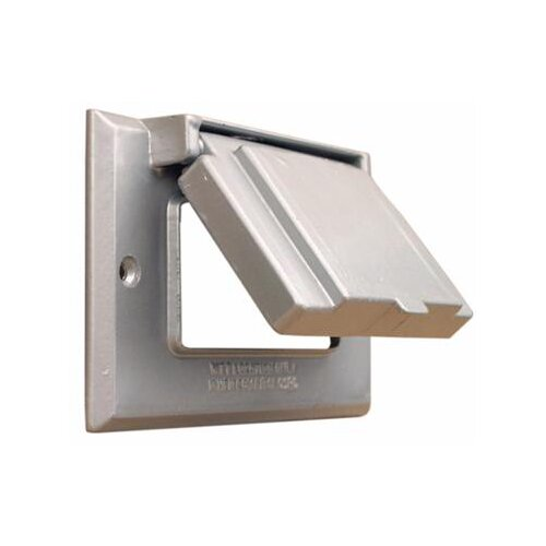 Morris Products One Gang Weatherproof Covers in Gray for Horizontal GFCI / Decorator
