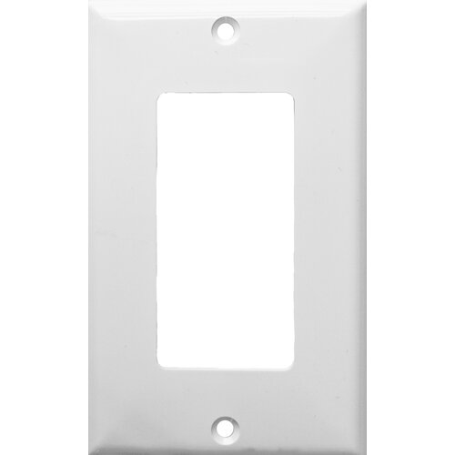 Morris Products 1 Gang Decorator / GFCI Lexan Wall Plates in White