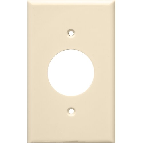 Morris Products 1 Gang Single Lexan Receptacle Wall Plates in Almond