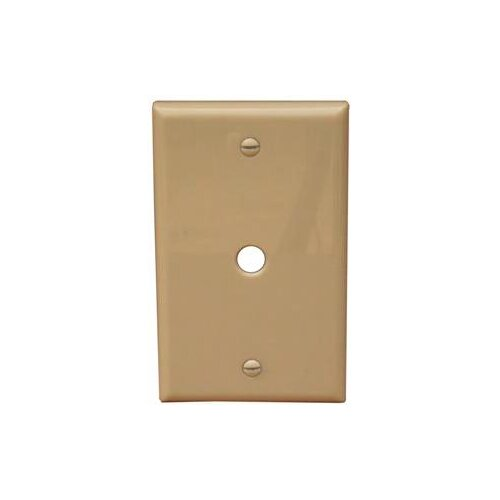"""Morris Products 1 Gang 0.41"""" Hole Lexan Cable Wall Plates in Ivory"""