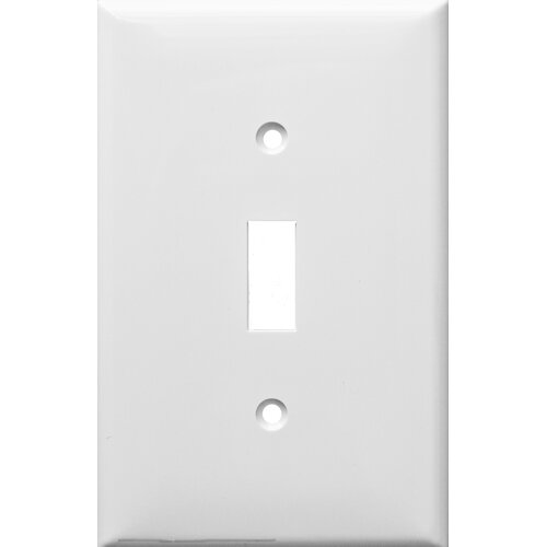 Morris Products 1 Gang Midsize Lexan Wall Plates for Toggle Switch in White