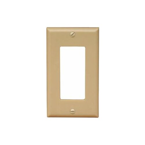 Morris Products 1 Gang Midsize Decorator / GFCI Lexan Wall Plates in Ivory