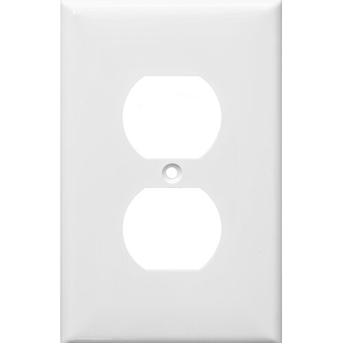 Morris Products 1 Gang Midsize Duplex Receptacle Lexan Wall Plates in White