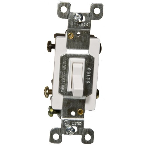 Morris Products 15A-120/277V 4 Way Toggle Switch in White