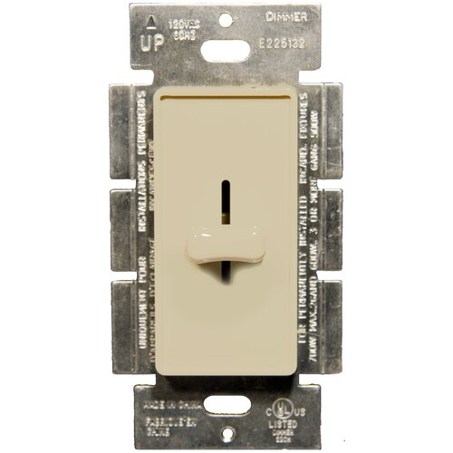 Morris Products Slide Single Pole Dimmer in Ivory