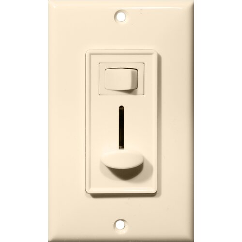 Morris Products Slide Single Pole Dimmer with Switch in Almond