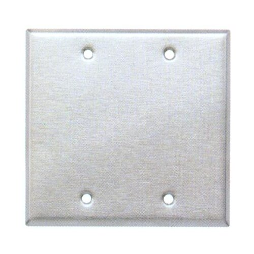 Morris Products Two Gang and Blank Metal Wall Plates in Stainless