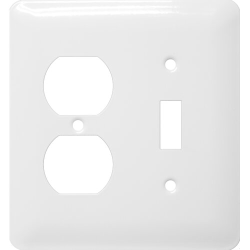 Morris Products Stainless Steel Metal Wall Plates in White