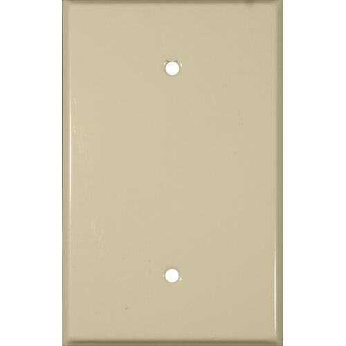 Morris Products Oversize Blank 1 Gang Stainless Steel Metal Wall Plates in Ivory