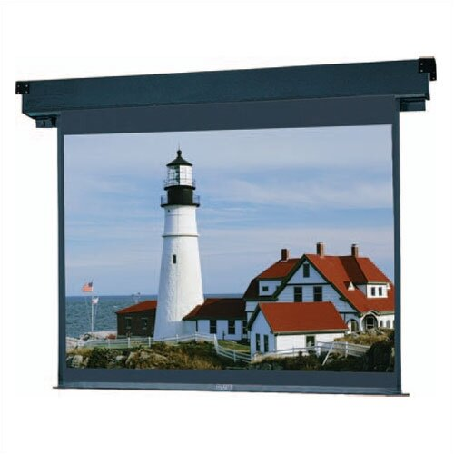 "Da-Lite Boardroom Electrol Matte White Motorized 45"" x 80"" Electric Projection Screen"