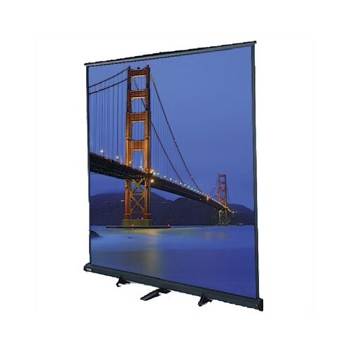 "Da-Lite Floor Model C Matte White 180"" Portable Manual Projection Screen"