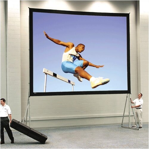 Da-Lite Fast Fold Deluxe Da-Mat Heavy Duty Portable Projection Screen