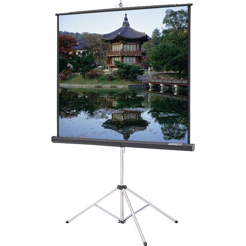 """Da-Lite Carpeted Picture King High Power 92"""" Diagonal Portable Projection Screen"""