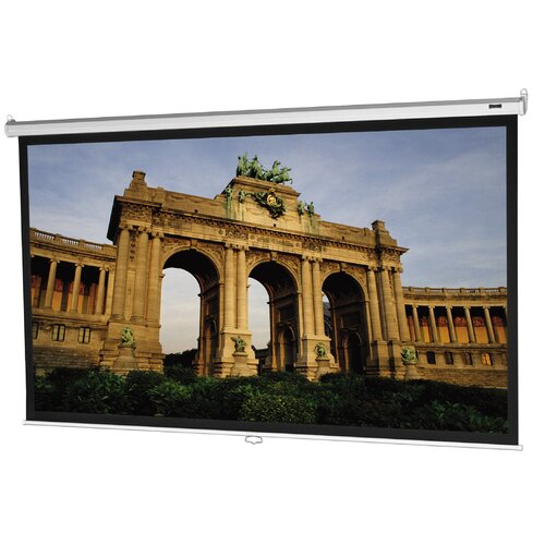 "Da-Lite Model B Matte White 77"" Diagonal Manual Projection Screen"