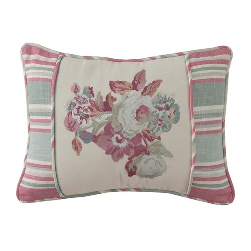 Waverly Spring Bling Embroidered Accent Pillow 13393014X020MUL WVY1413 on rustic living rooms hgtv