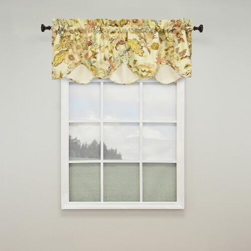 Waverly graceful garden scalloped 60 quot curtain valance amp reviews