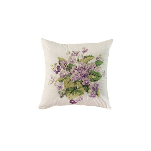 Waverly Sweet Violets Cotton Accent Pillow