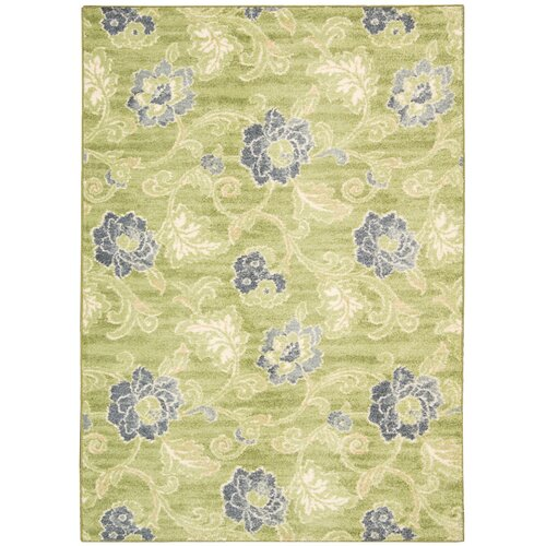 WAV02: Aura of Flora Wasabi Outdoor Rug