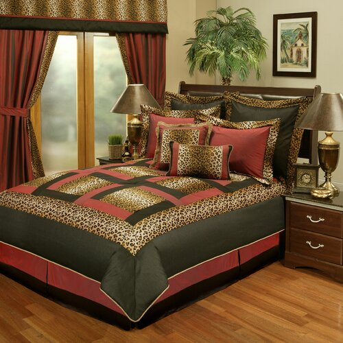 kline jungle passage cheetah 8 piece comforter set reviews wayfair