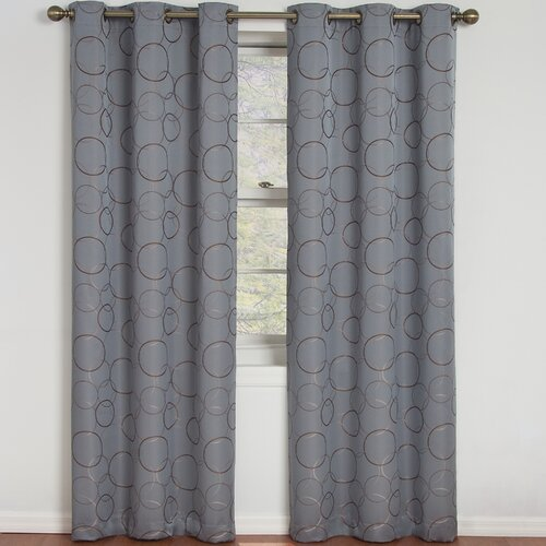 Eclipse Curtains Meridian Grommet Curtain Panel & Reviews   Wayfair