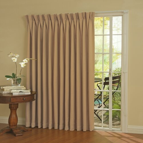 eclipse curtains patio door rod pocket window curtain panel