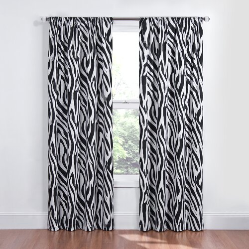 Eclipse Curtains Kids Safari Rod Pocket Window Curtain Single Panel