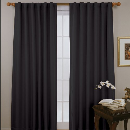Eclipse Curtains Fresno Rod Pocket Window Curtain Single Panel