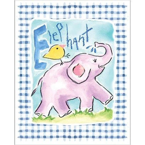 Art 4 Kids Gingham Elephant Canvas Art