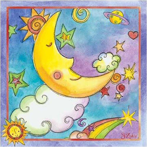 Art 4 Kids Twinkle Moon Canvas Art