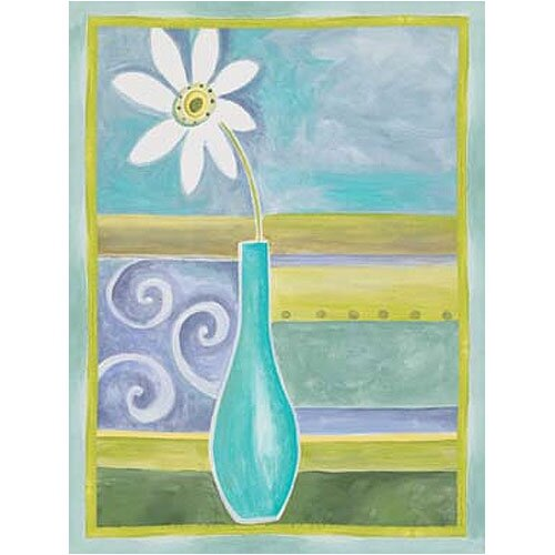 Green Geo Vase II Canvas Art
