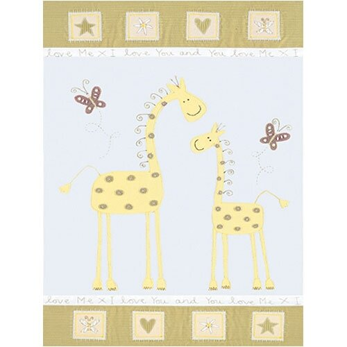 Giraffe Mother and Baby Canvas Art
