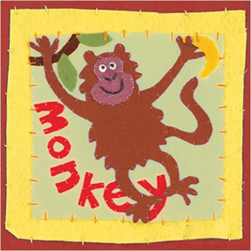 Art 4 Kids Patchwork Monkey Canvas Art